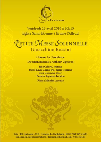 Concert Petite Messe Solenelle de Rossini par La Cantalasne