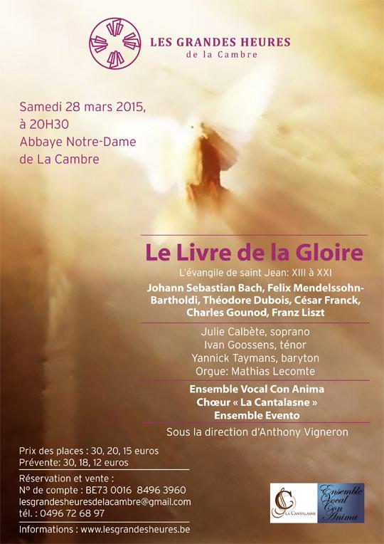 Concert Le Livre de la Gloire, 28 mars 2015