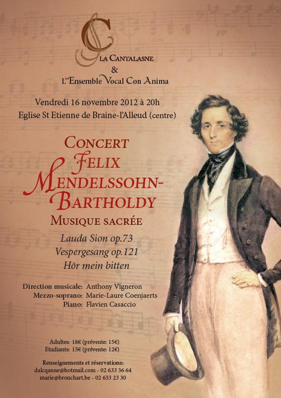 Concert Mendelssohn par la Cantalasne