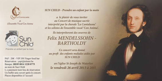 Concert Mendelssohn, 26 avril 2013 par La Cantalasne