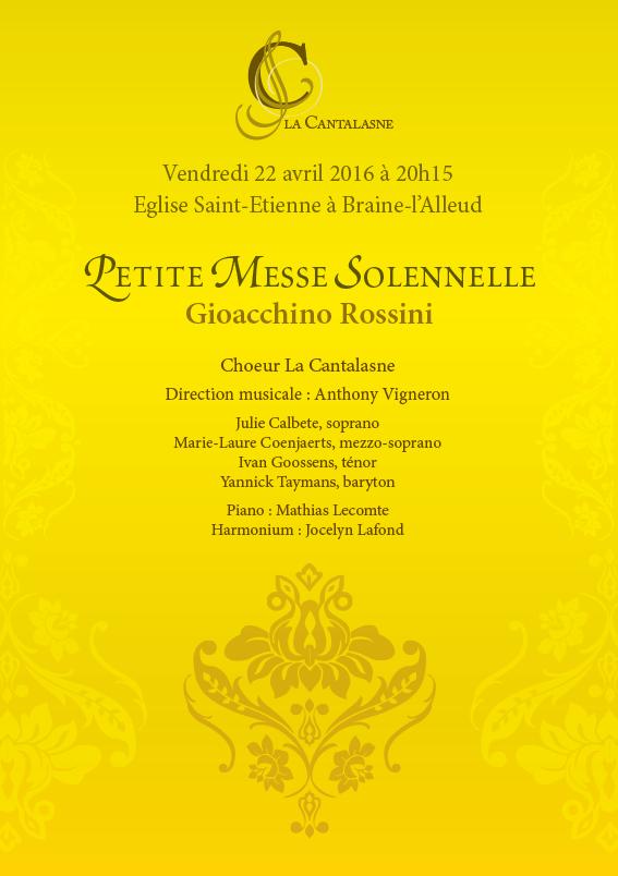 Concert Petite Messe 22 avril 2016