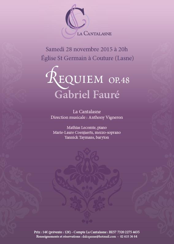Concert Requiem de Fauré 28 novembre 2015