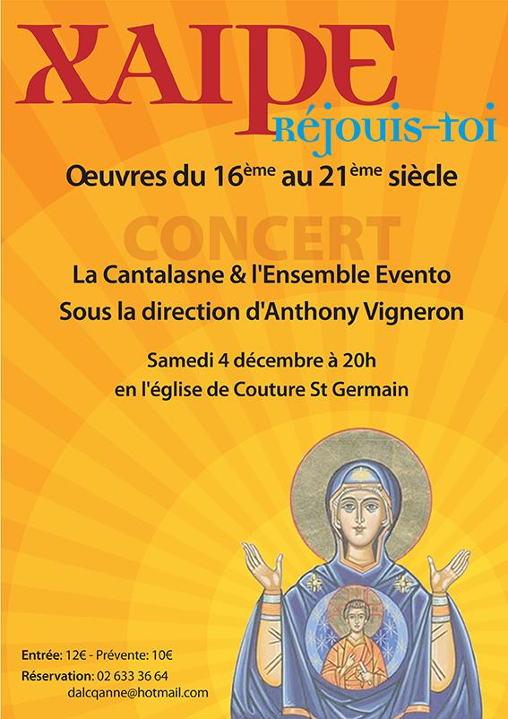 Concert Xaire, Réjouis-toi par la Cantalasne