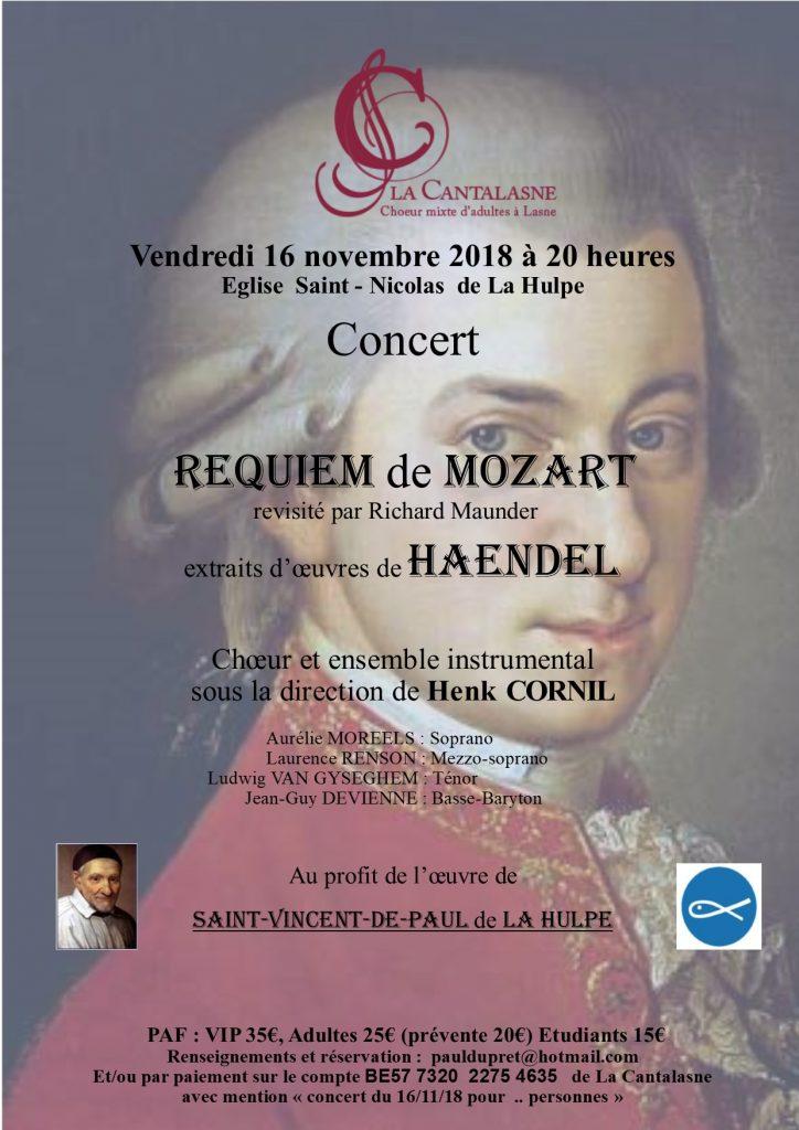 Concert Mozart, Haendel, novembre 2018